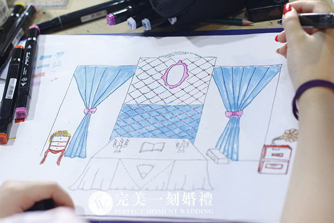 第14期婚礼手绘设计特训班课程花絮_婚礼手绘设计花絮